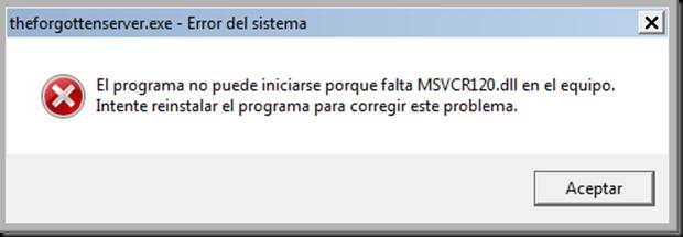 SOLUCIÓN AL ARCHIVO FALTANTE MSVCR120 DLL |